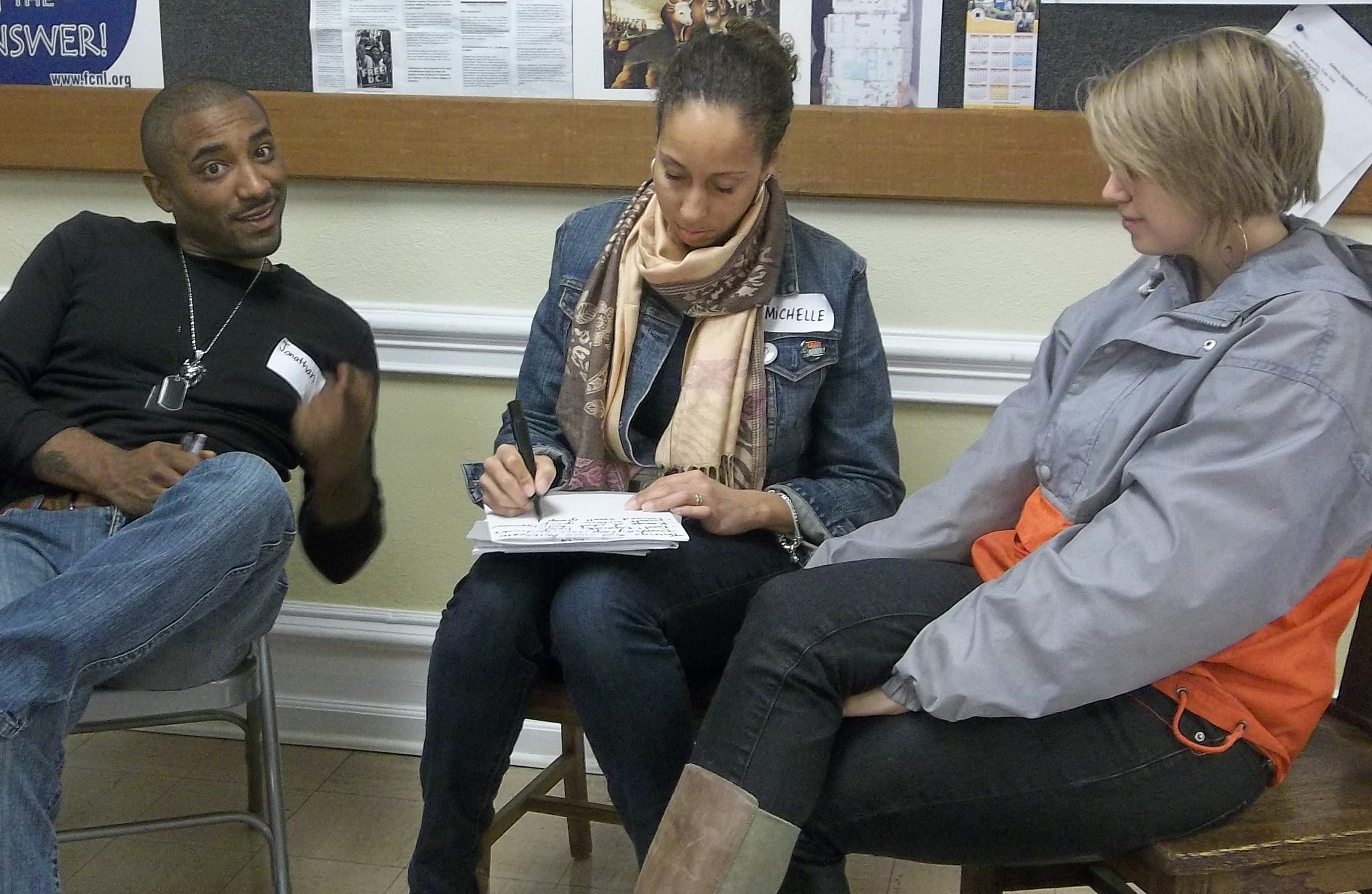 participants discuss the power of language